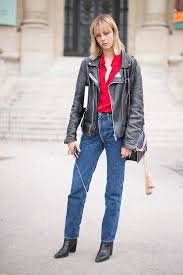 boyfriend leather jacket and jeans