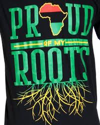 Mens Proud Of My Roots Printed Tee Black Vim