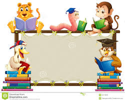 s and frame stock vector reading clipart border border design with children reading books ilration royalty