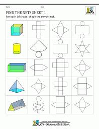 First Grade Geometry 3d Shapes Worksheets For Kindergarten Shape ...