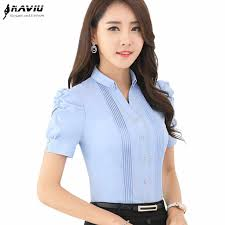 Professional business <b>women</b> cotton shirt New <b>OL</b> formal <b>summer</b> ...