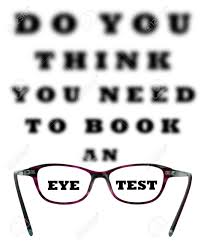 Blurry Eye Test Chart Do You Think You Need To Book An Eye Test Blurred Chart With