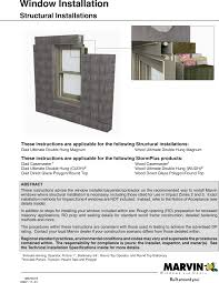 Marvin Window 19970019 Structural Install User Manual To The