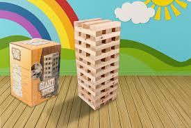 giant jenga tower 1 2m 60pcs wooden blocks outdoor garden game