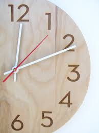 inch medium size modern wood wall clock with beautiful