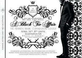 Black Tie Event Invite Template Vector Stock Invitation Free