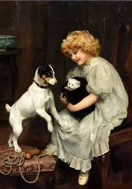 safe quarters arthur john elsley oil on canvas private collection cat in art find this pin and more on charles burton barber