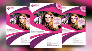 How To Create A Beauty Salon Flyer Design In Photoshop Tutorial