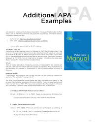 Additional Apa Examples