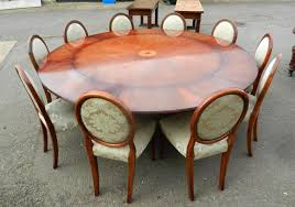 vintage dining set of large round extending jupe style dining tables with set 10 chairs