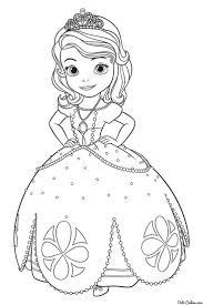 Princess Sofia Coloring Page From Sofia