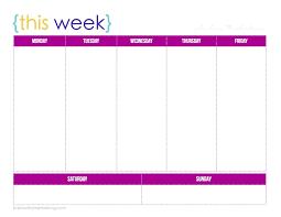 Blank One Week Calendar Printable One Week Calendar Celo Yogawithjo Co One Week Blank