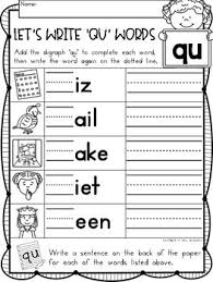 See our extensive collection of esl phonics materials for all levels, including word lists, sentences, reading passages, activities, and worksheets! Digraphs Phonics Qu Literacy Printables For Kindergarten And First Grade