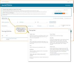 How To Explore Compare And Track Journal Citation Impact With