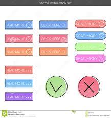 Bouton Web Design Positionnement De Bouton De Web Illustration De Vecteur