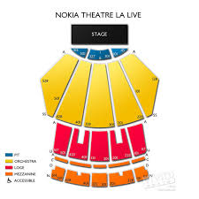 Nokia Theater Seating Chart Video Microsoft Theater Seating Map 2019