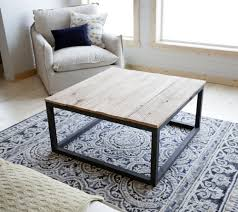 ... Coffee Table, Wonderful Brown And Black Rectangle Ancient Wood And Iron  Box Frame Coffee Table ...