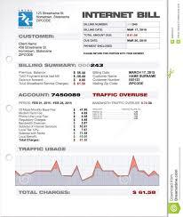Bill Template Internet Provider Isp Expenses Bill Document Template Stock Vector