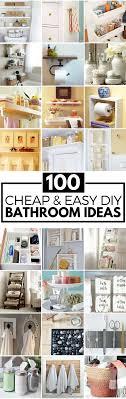 Unique diy bathroom ideas using wood Bathroom Vanity Diy Bathroom Ideas Prudent Penny Pincher 100 Cheap And Easy Diy Bathroom Ideas Prudent Penny Pincher
