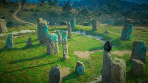But if you zoom in, you'll see the circle of stones clearly. Aveberie Megaliths Standing Stone Guide Assassin S Creed Valhalla Game8