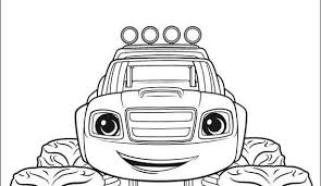 Printable Blaze Coloring Pages Inspire And The Monster Machines On