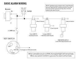 basic engine alarm wiring example seaboard marine basic alarm wiring example
