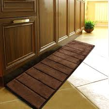inspiring brown kitchen rugs with memory foam for grey and