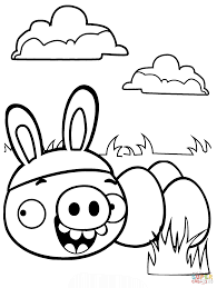 Minion Pig Stealing Easter Eggs coloring page | Free Printable ...