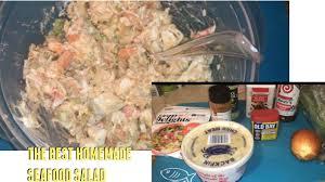 HOMEMADE SEAFOOD SALAD RECIPE - YouTube