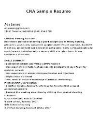 Sample Certified Nursing Assistant Resume Objective Resumes Samples ...