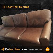 leather sofa dyeing before