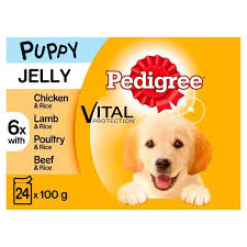 Pedigree Puppy Food Feeding Chart Pedigree Mixed Selection In Jelly Puppy Wet Dog Food