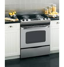 Kitchens With Slate Appliances Gear 30 Slide In Electric Range With Self Cleaning Oven