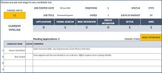 Recruitment Manager Excel Template Indzara