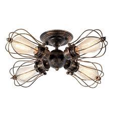 Deckenleuchte Retro Metall Deckenleuchte Antik Retro Lampe Für Schlafzimmer Wohnzimmer