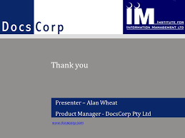 Presenter – Alan Wheat Product Manager - DocsCorp Pty Ltd Can mismanagement  of metadata expose sensitive information? - ppt download