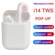 Tai nghe bluetooth I14 TWS thiết kế nhỏ gọn, tỷ lệ 1:1 kèm dock sạc - hàng  chính hãng - Tai nghe Bluetooth nhét Tai Thương hiệu OEM