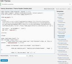 google ytics code inserted in header php