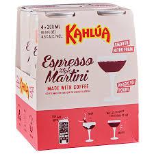 kahlua espresso martini 4pk 200 ml cans