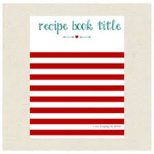 stripes arrow recipe binder printable kit editable diy recipe letter size recipe
