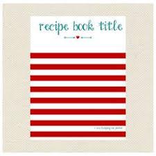 stripes arrow recipe binder printable kit editable diy recipe letter size recipe