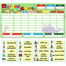 How To Do A Reward Chart Reward Charts For Kids Reward Magnetic Sticker Educational Toys English Word Picture Matching Game For Children Gift