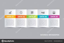 Tab Website Design Infographics Tab Horizontal Paper Index Data Template Vector