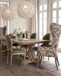 evelyn dining table blanchett side chair and pheasant host chair horchow