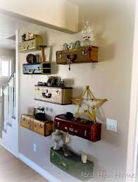 it would look fantastic with these vintage suitcase shelves