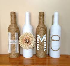 ... Wine Bottle Decorations Decorated Bottles Decorating Ideas Twine  Wrapped Rustic Home Decor Design 6 ...