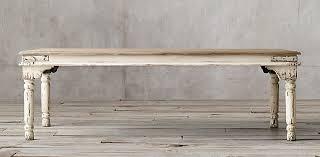 distressed white table. Distressed White Table D