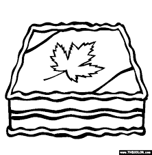 Small Picture Canada Day Cake Online Coloring Page
