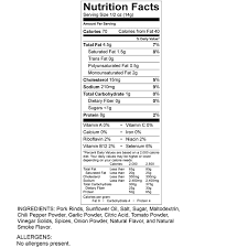 nutritional facts pork rind recipes