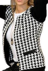 Houndstooth Knitting Pattern Chart Oberora Women Fashion Long Sleeve Houndstooth Pattern Short
